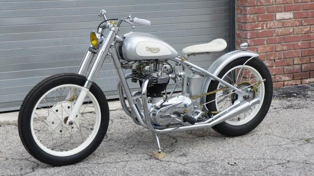 """Triumph T120 Bobber """"The Shining II"""" by Crush1776 from Dotheton #motorcycles #bobber #motos   caferacerpasion.com"""