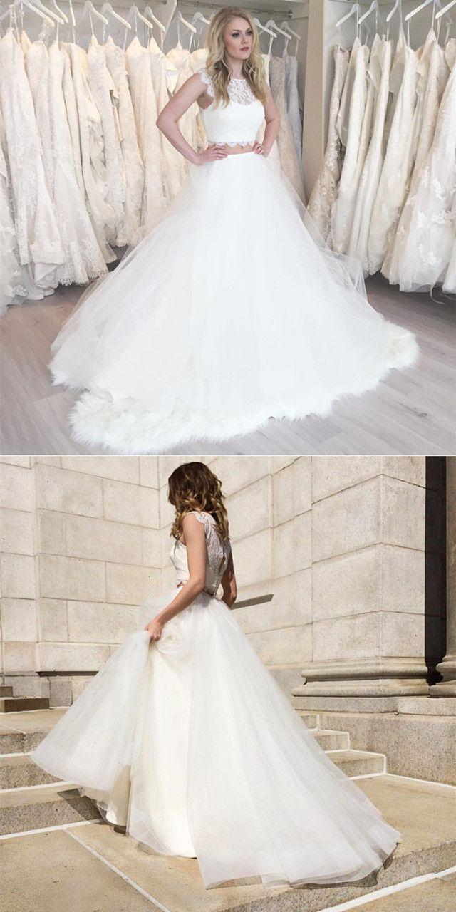 White tulle beach wedding dressboho wedding dresscountry wedding