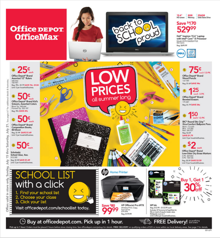 Office Depot Weekly Ad OfficeMax Ad July 7