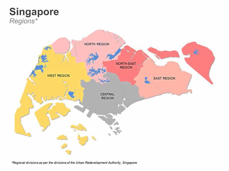 Editable PowerPoint Map: Singapore Map | Editable PowerPoint Maps ...