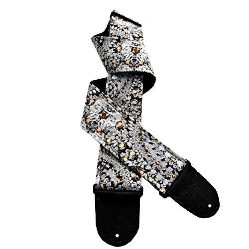 Black Gray White Guitar Strap Jewels and Diamonds Motif Artisan Handmade with Topaz Accents Coolstraps Custom Handmade Guitar Straps http://www.amazon.com/dp/B01DPN22KE/ref=cm_sw_r_pi_dp_WsS.wb06EPWR5