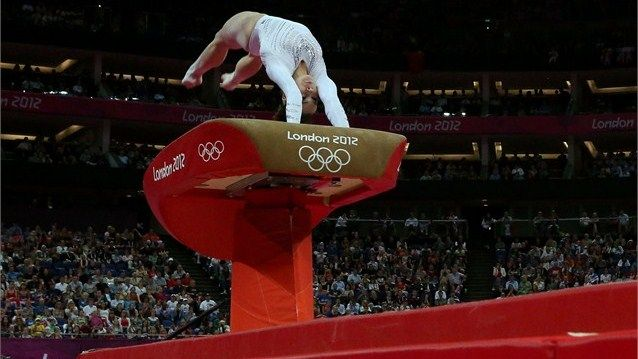 Mc Kayla Maroney of United States competes on the vault during the Artistic Gymnastics Women's Vault final on Day 9. McKayla took silver.
