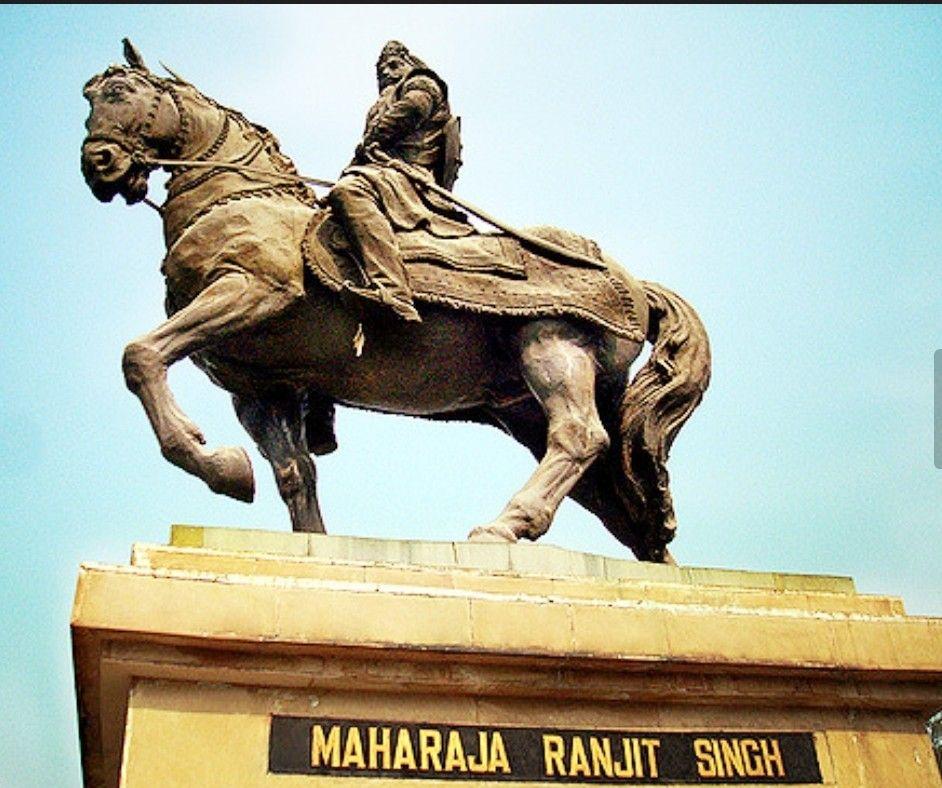 Image result for maharaja ranjit singh statue