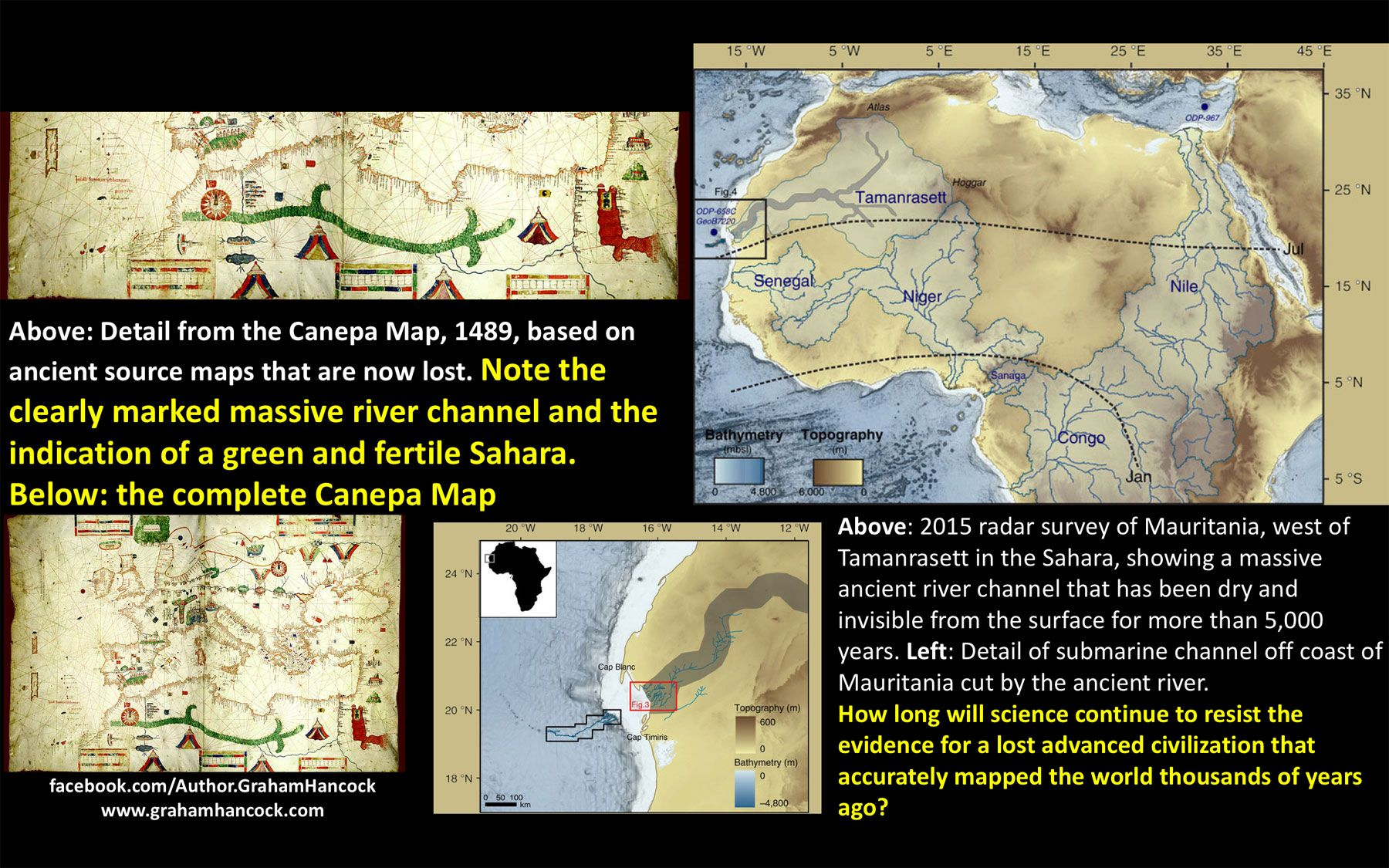 Since Fingerprints of the Gods (published in 1995) I have maintained that embedded in certain ancient maps – notably the so-called Portolan Charts of the 13th to 15th centuries AD – are accurate representations of geographical features that no longer existed when the maps were made but that were present […]