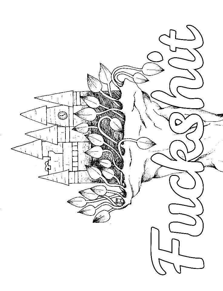 Castle - Adult Coloring page - swear. 14 FREE printable ...