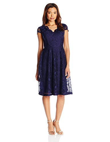 Js collections Open Neck Scalloped Lace Sheath Dress in
