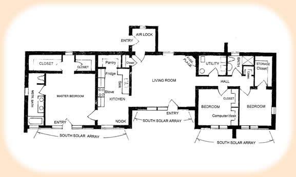 Adobe Builder House Plans Solar Plan 1870