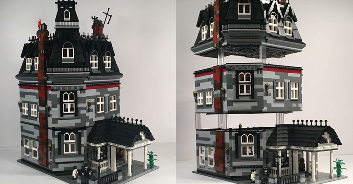Introducing The New Addams Family Lego Mansion Set Lego Mansion Addams Family Mansions