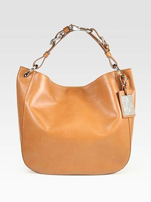 4945fec511 Ralph Lauren Collection Bohemian Leather Hobo Bag