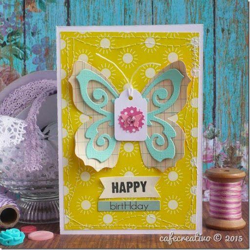 Come cucire la carta - Card Farfalla - video tutorial (con immagini)   Creativo. Cucito. Tutorial