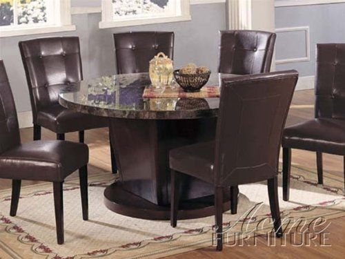7pc Dining Table  Parson Chairs Set in Espresso Finish Kitchen 1