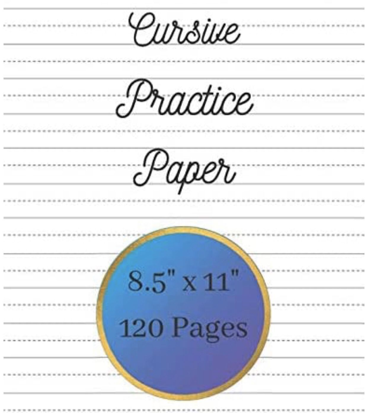This Paper Is Perfect To Practice Cursive Or Print Great