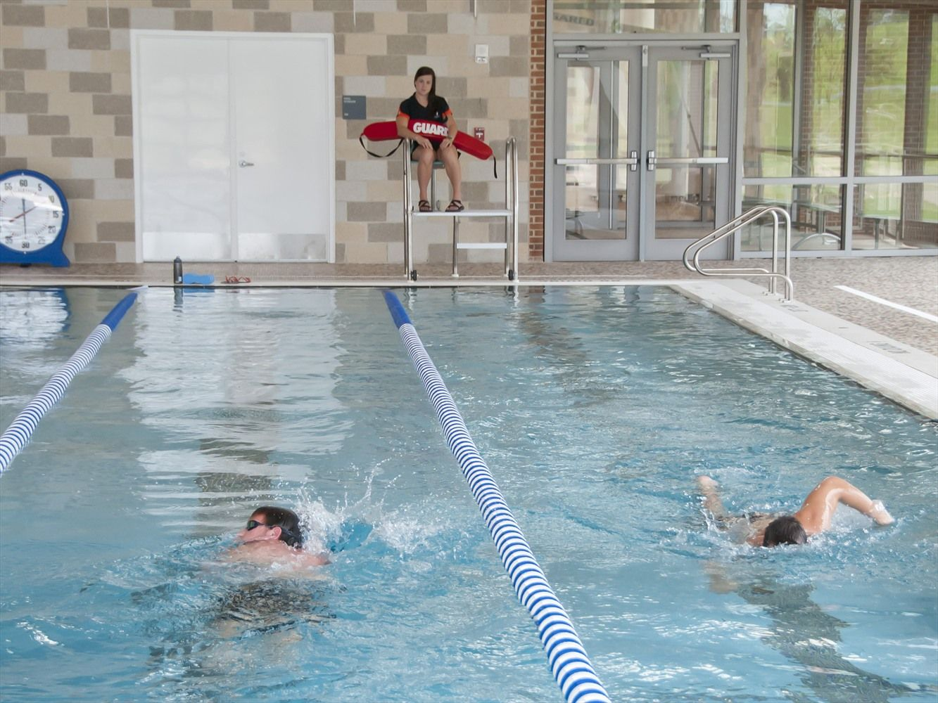 Swimmers swim laps in the wellness center pool aum campus photos pinterest swim wellness for How to swim laps in small pool