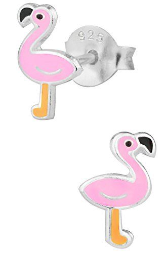 Silver Crystal Flamingo Beak Clip