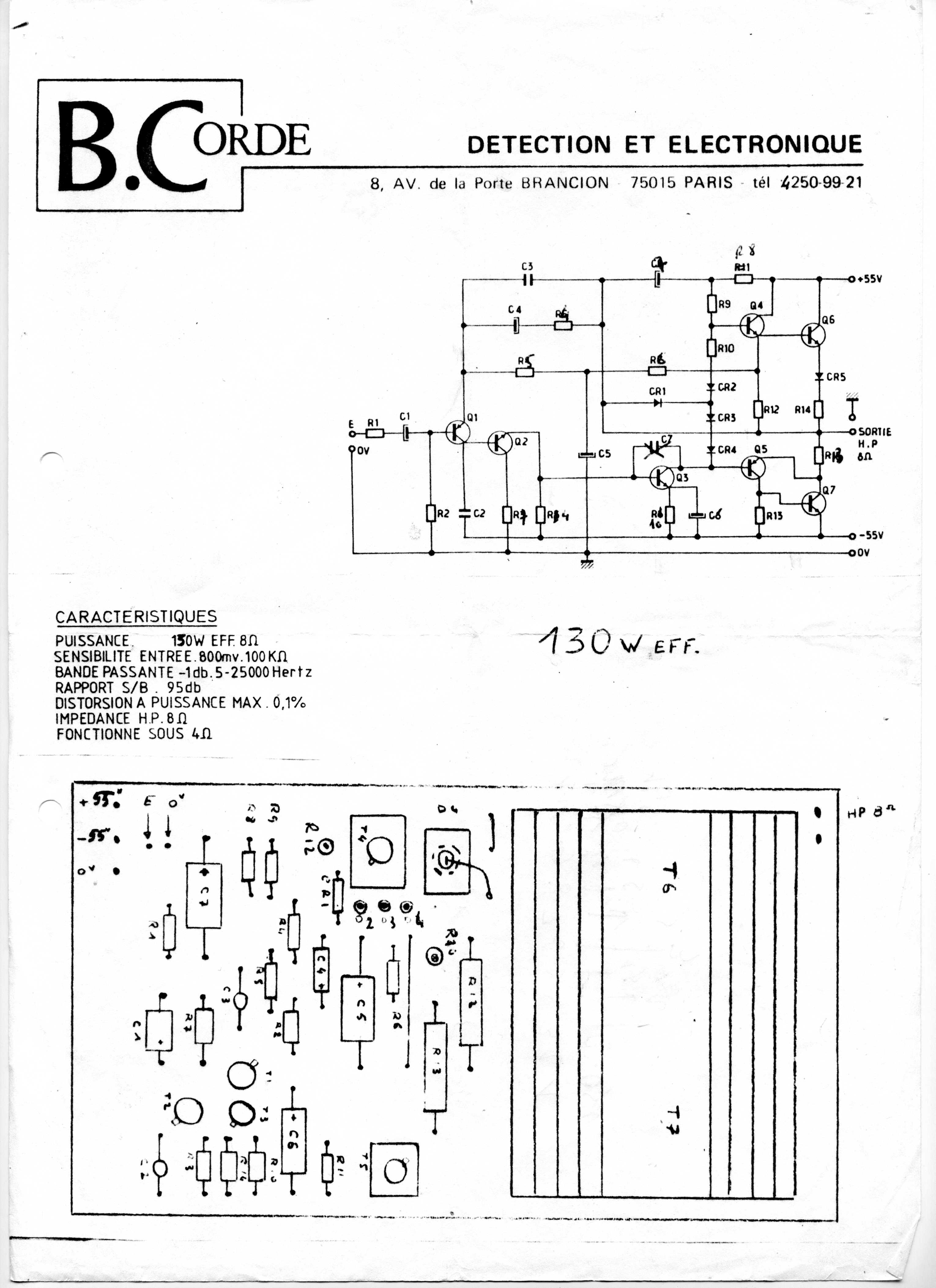 Rca Power Amplifier Schematic Electrical Wiring Diagrams 150w Lm3886 Documentation Issu Dun Module De Puissance B Corde Le Schma Est Transistor
