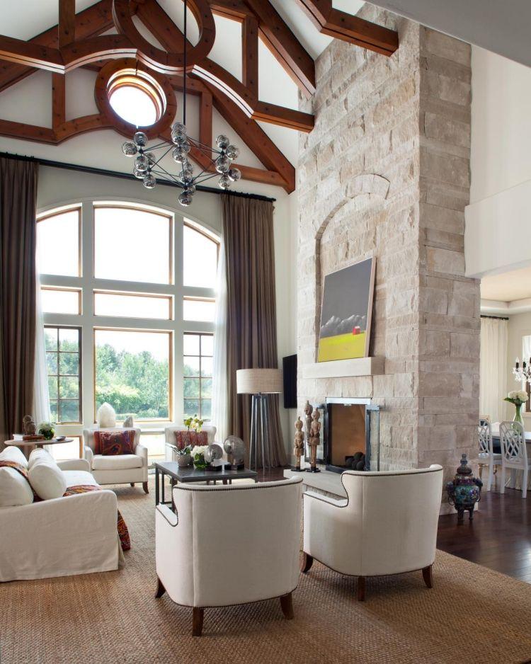 Steinwand Im Wohnzimmer 30 Inspirationen Von Klimex Modern Art