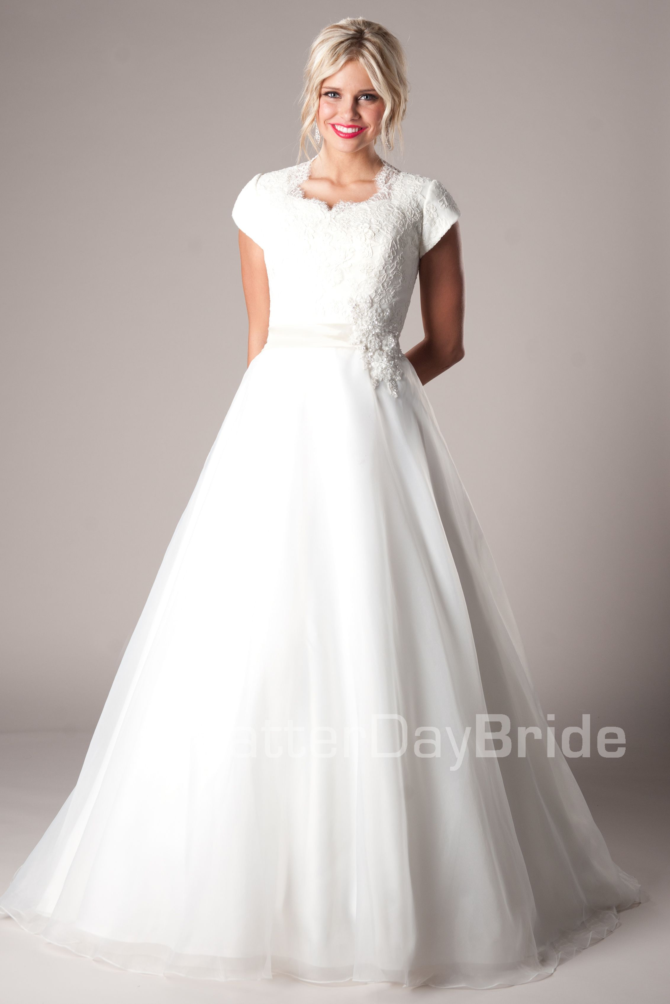 Modest wedding dresses modest wedding dresses mormon for Mormon modest wedding dresses