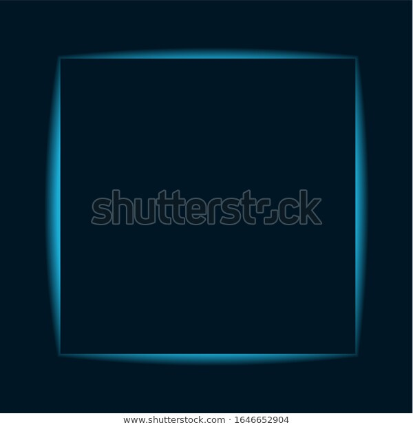 Blue Neon Banner Square Shape Background Stock Vector Royalty Free 1646652904