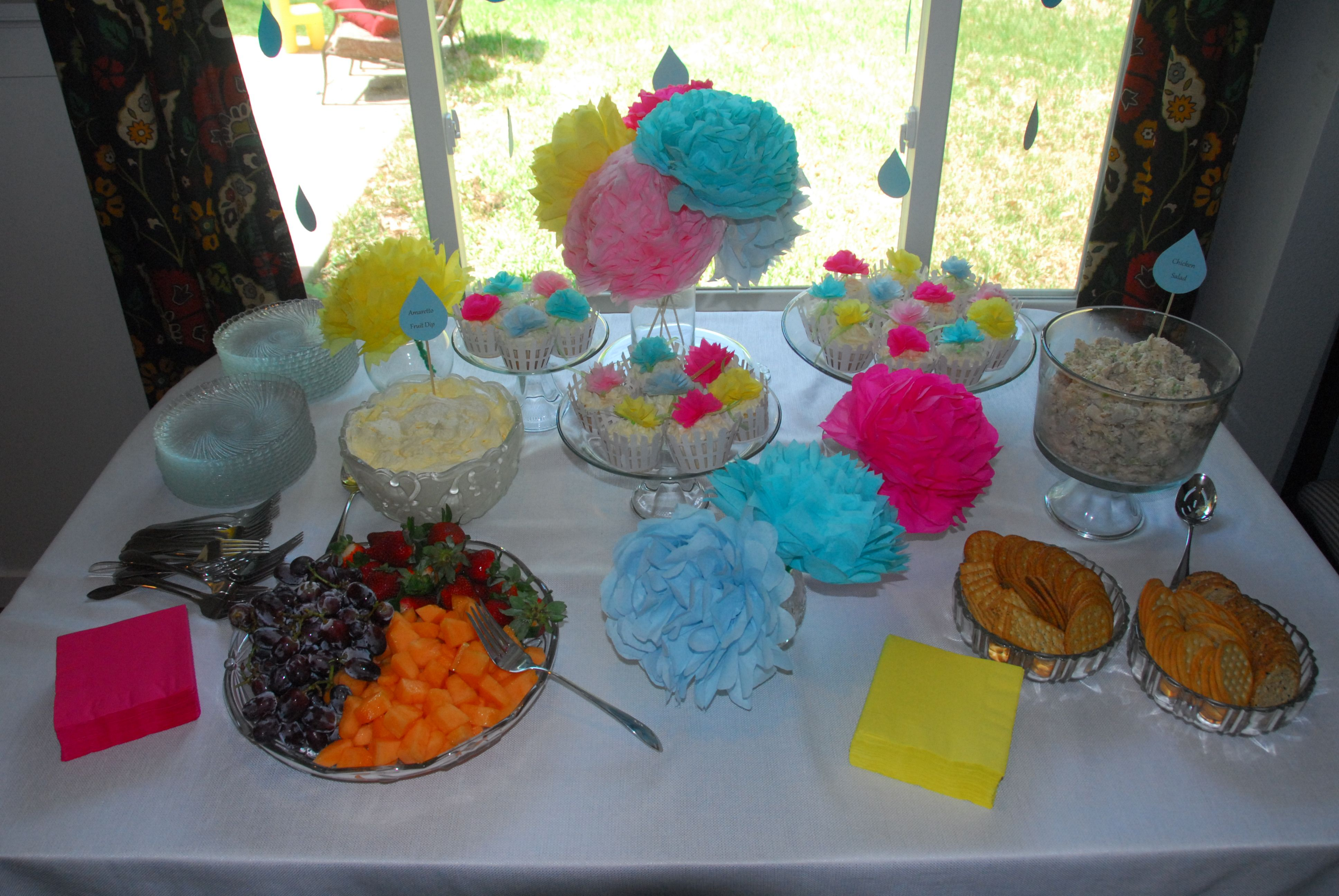 the table april showers bring may flowers baby shower pinterest