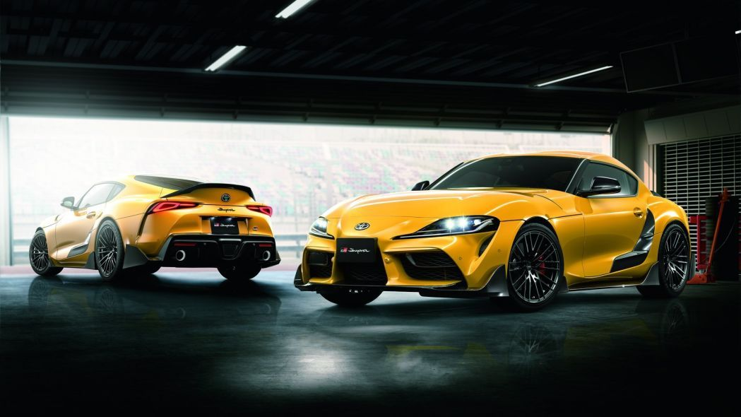 2020 Toyota Supra Tries On The First Batch Of Trd Upgrades Toyota Supra New Toyota Supra Toyota