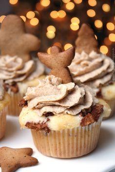 Bratapfel-Cupcakes mit Spekulatius-Cremetopping – Dreierlei Liebelei