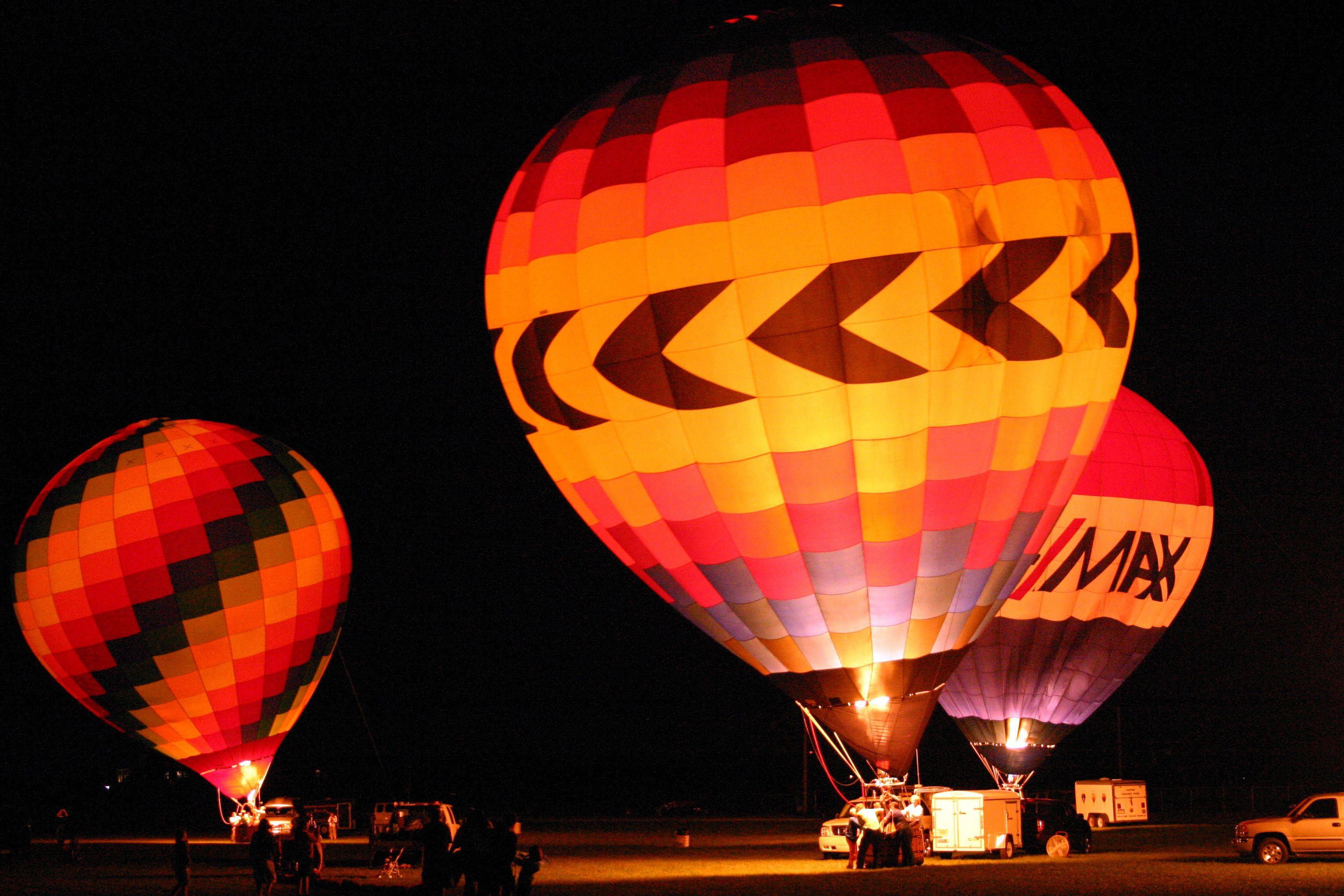 Valparaiso Indiana Balloon Festival took a balloon ride