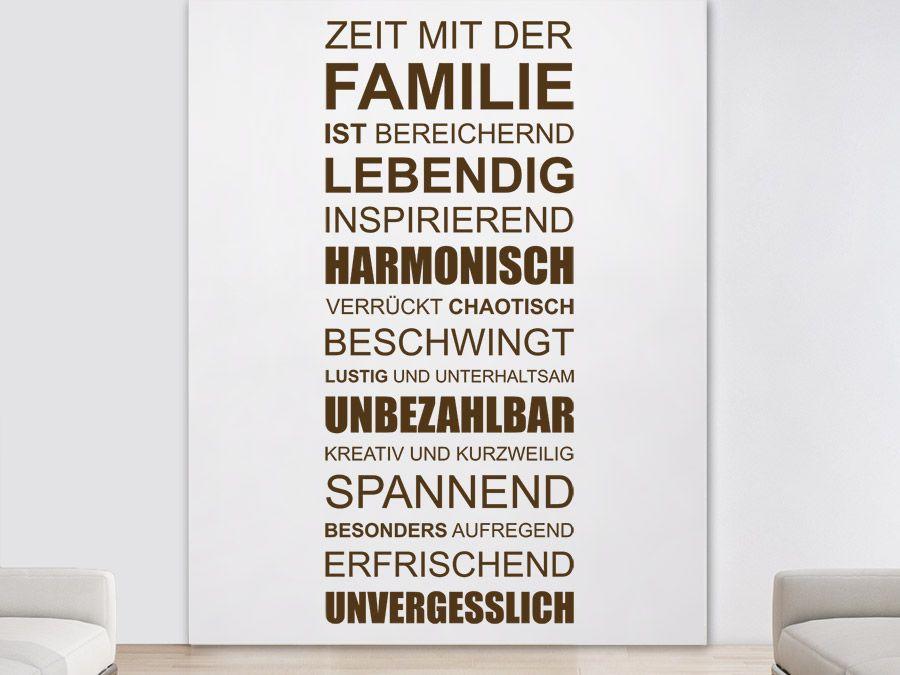 Zeit mit der Familie ist Familie ist, Wandtattoo und Familien - wandtattoos für wohnzimmer