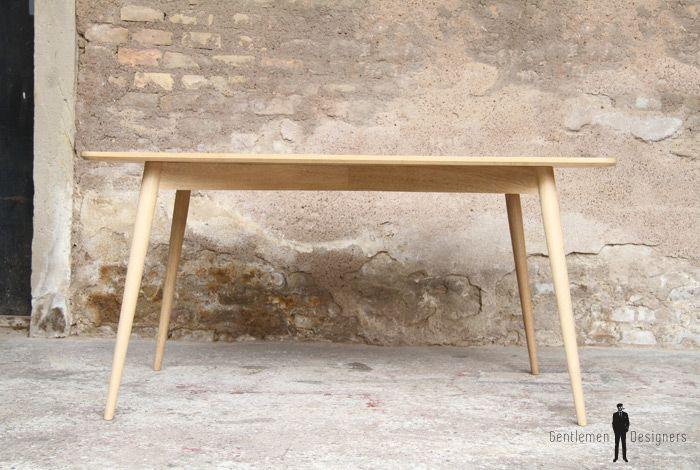 Table Bois Meuble Style Vintage Made In France Sur Mesure Chene Boismassif Bois Tableamanger Piedcompas Des Table Repas Decoration Interieure Table