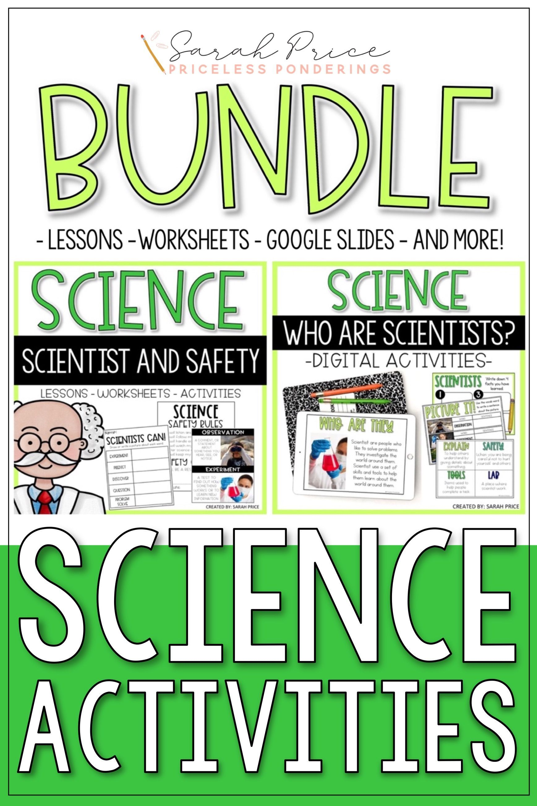 Scientists Safety And Tools Worksheets And Slides