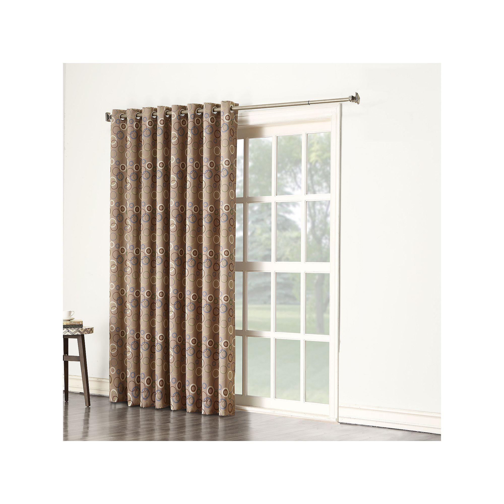 Sun Zero Galaxy Room Darkening Patio Door Curtain 100 x 84