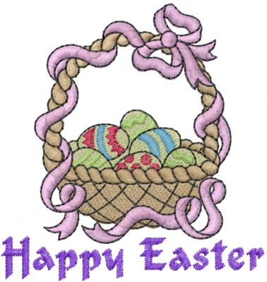 Machine Embroidery Designs Embroidery Design: Happy Easter 2.95 inches H x 2.79 inches W
