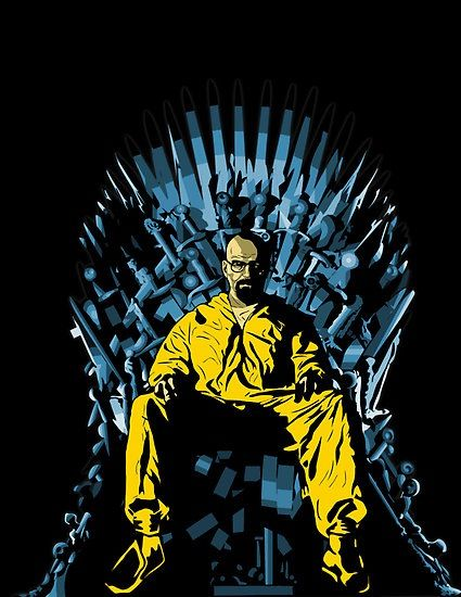 Heisenberg s iron throne by rob hansen breaking bad for Iron throne painting