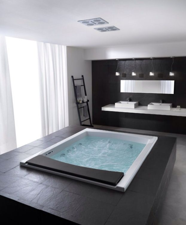 Great Modern Master Bathroom Modern Master Bathroom Indoor Hot Tub Bathroom Design