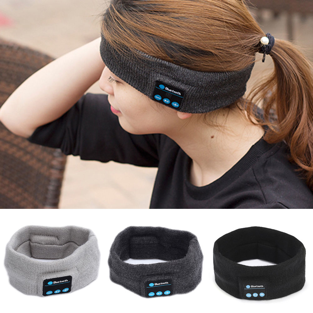 Wireless Bluetooth Stereo Headphone Headset Sports Sleep Headband w// Microphone