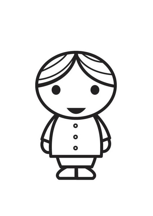 Coloring page Boy | Patterns | Coloring pages, Boys y Paper art