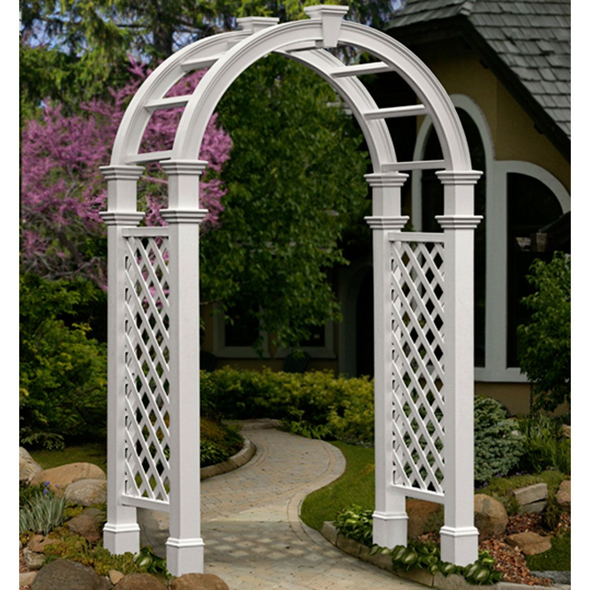 60 Inch W X 28 Inch D X 102 1 4 Inch H Nantucket Legacy Arbor With