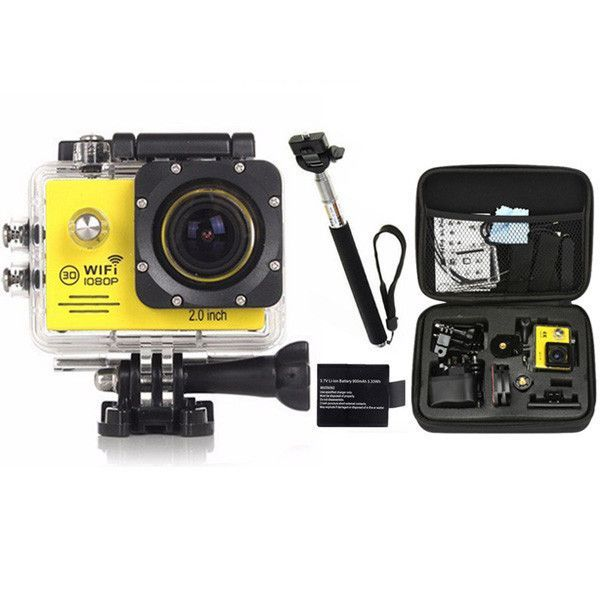 Gopro Hero 4 Style Action Camera 1080P WiFi Go Pro Sport Extreme Diving Helmet Waterproof