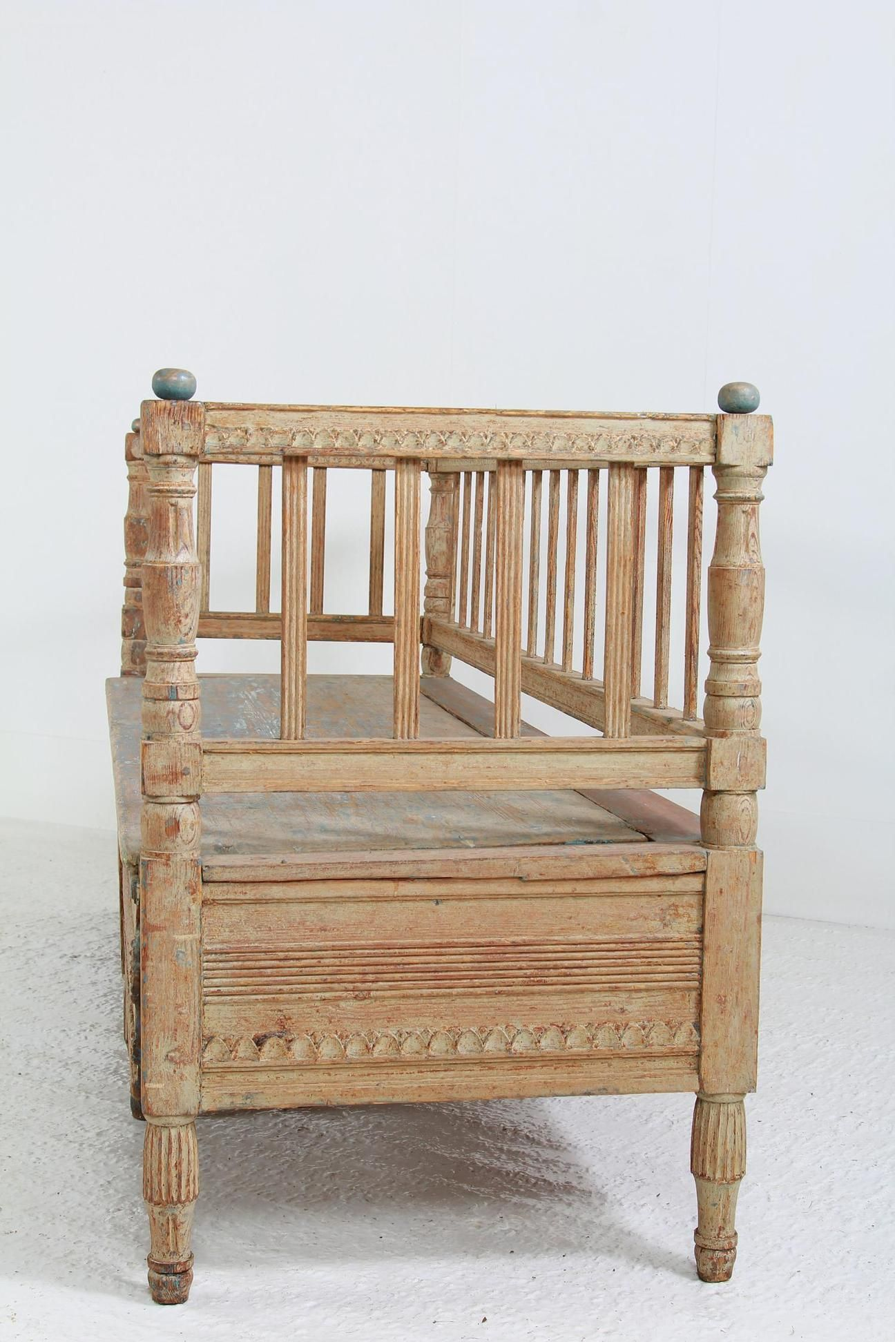 Swedish 18thC Period Gustavian Sofa Bench | Furniture | Sofa bench
