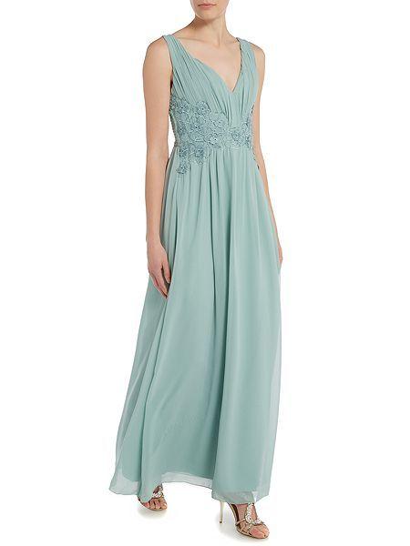 Sleeveless Plunge Neckline Chiffon Maxi Dress | Mmhm | Pinterest ...