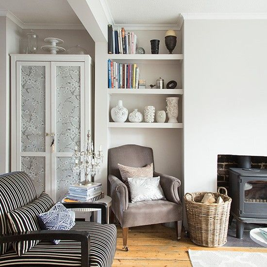 living room with personalised cupboard - Living Room Style Uk