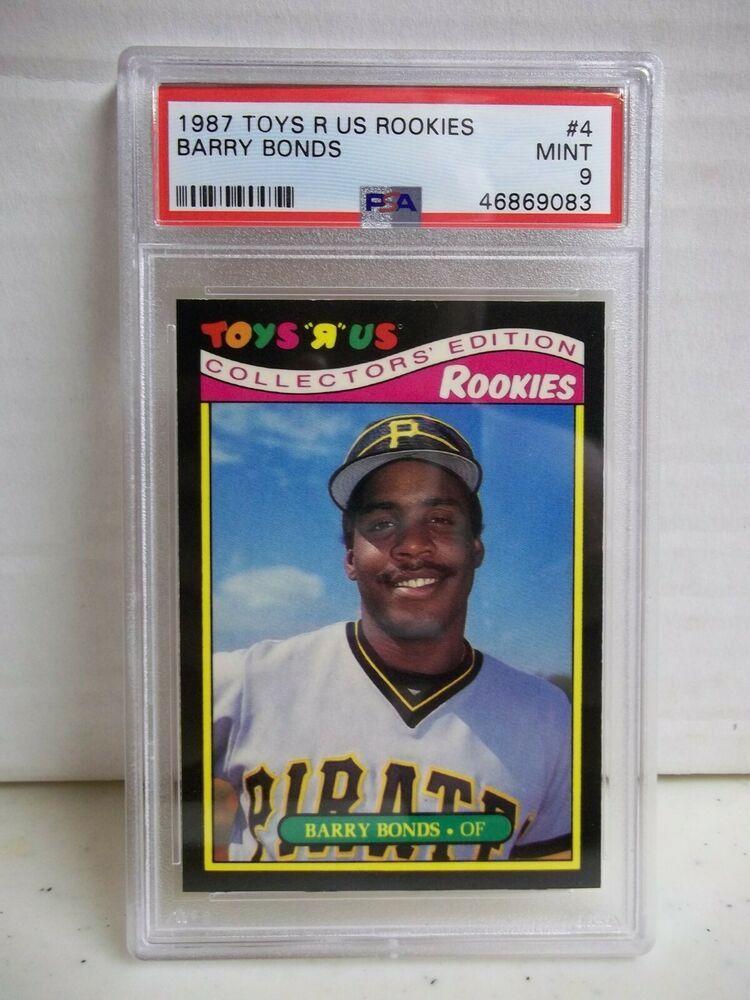 1987 Toys R Us Barry Bonds Rookie Psa Mint 9 Card 4 Mlb Pittsburgh Pirates Pittsburghpirates Barry Bonds Pittsburgh Pirates Barry