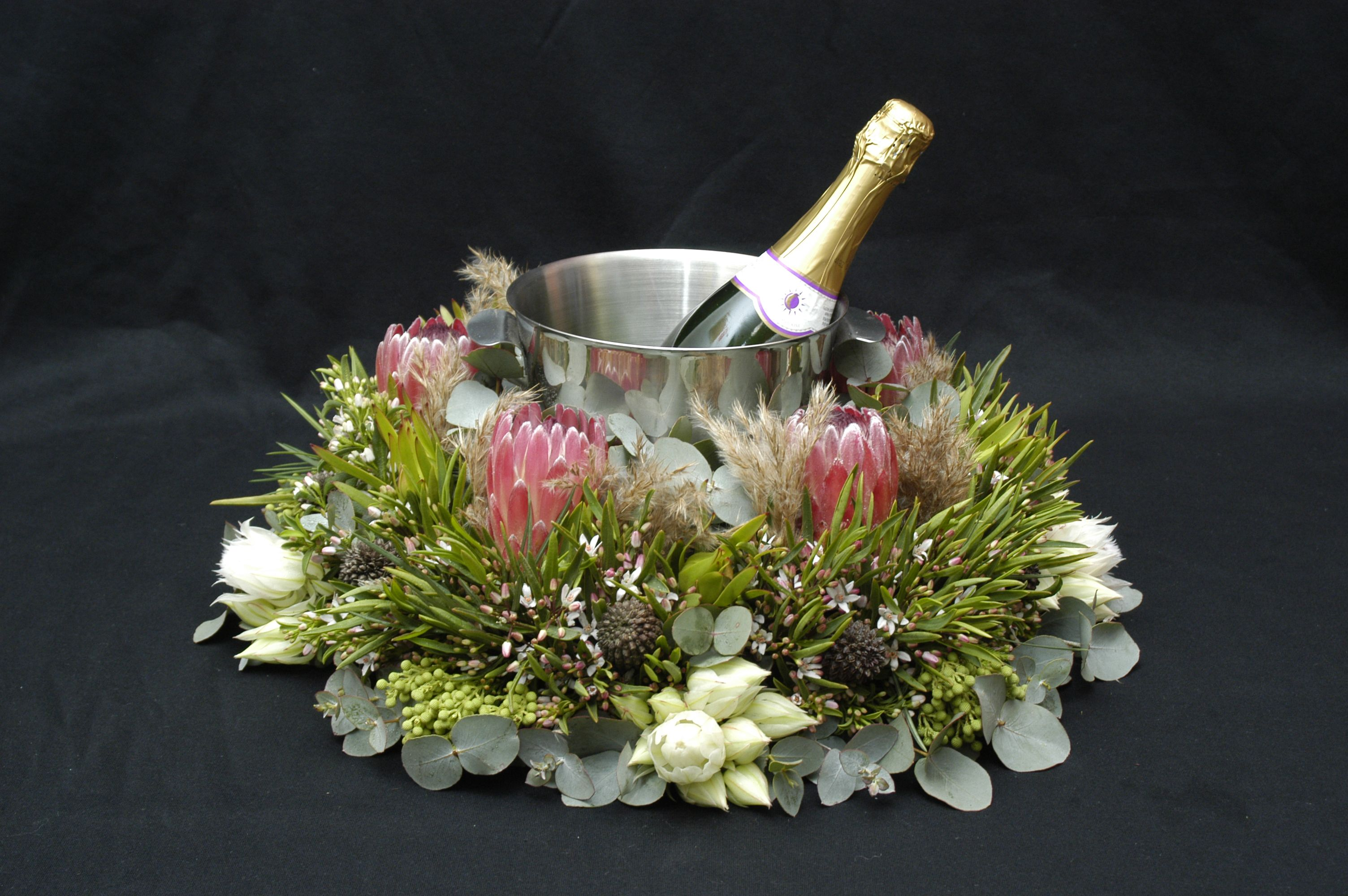 Floral centrepiece floristry australian native Flower