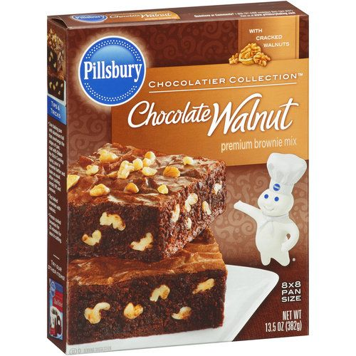 Pillsbury Premium Chocolate Walnut Brownie Mix 13 5 Oz Baking