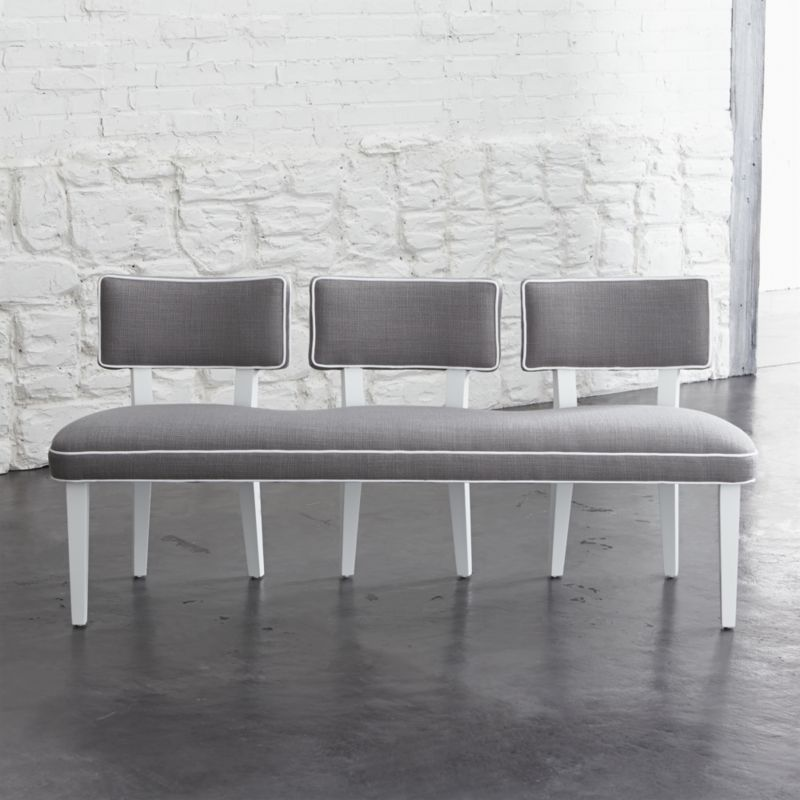 Dining Bench With Back Seat: Entry Way Bench? Love The Single Base And Three Seperate