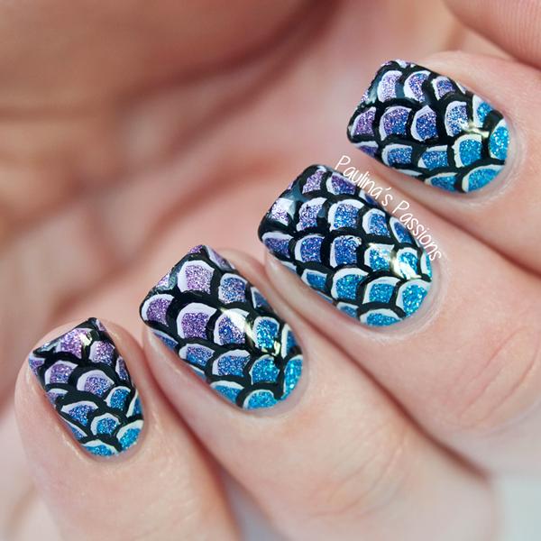 Diseño cola de sirena. | Uñas, Nails | Pinterest | Sirenitas, Uñas ...
