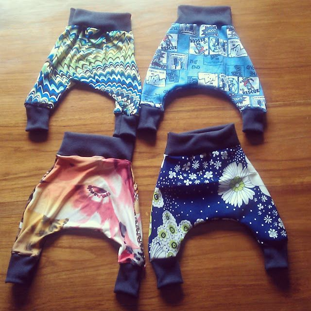Baby Girl Harem Pants - links to free pattern | Girl power ...