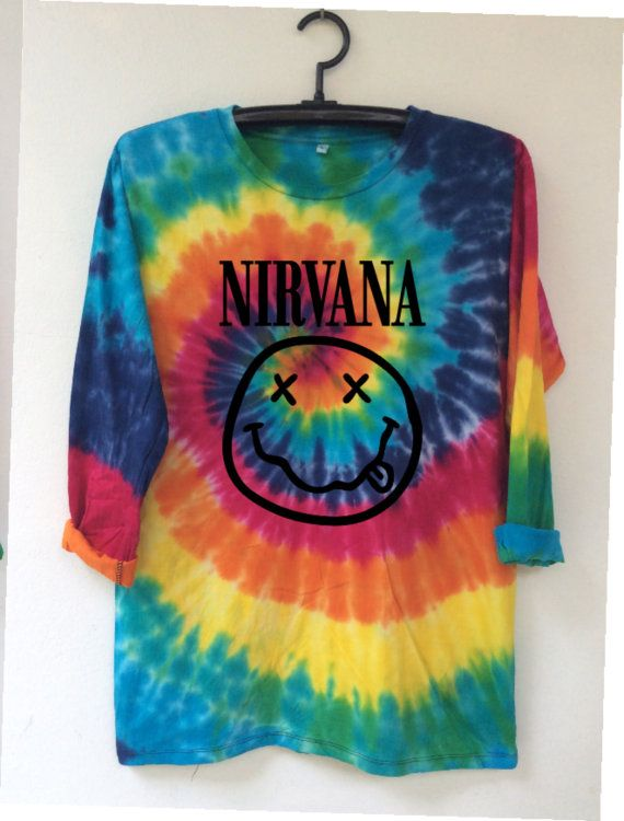 NIRVANA...... O Neck tie dye comfortable t by CHOTHITOP on Etsy