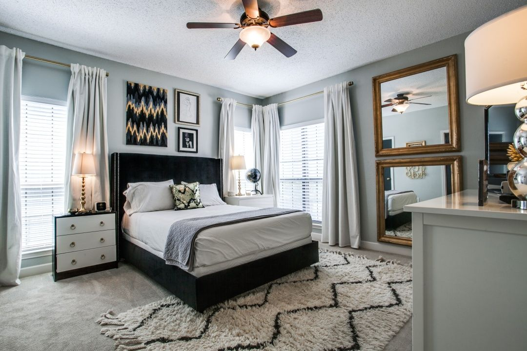 For sale! Grey and gold bedroom, Gold bedroom, Home