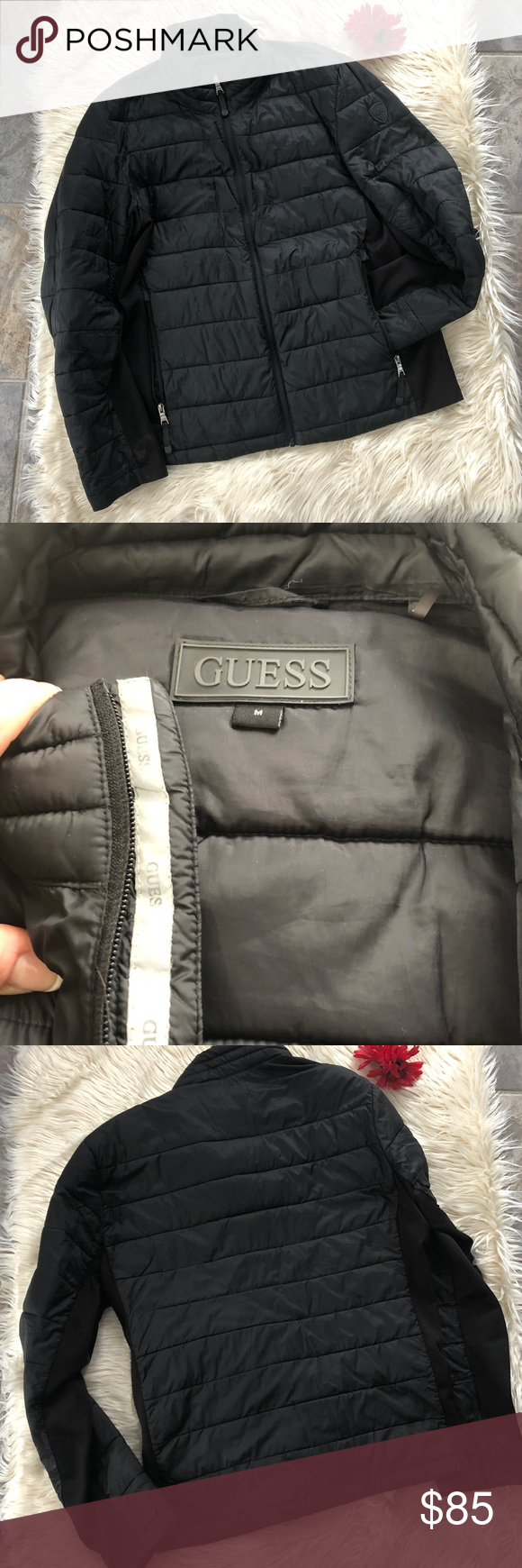 Guess Light Weight Puffer Jacket Clothes Design Jackets Fashion Trends [ 1740 x 580 Pixel ]