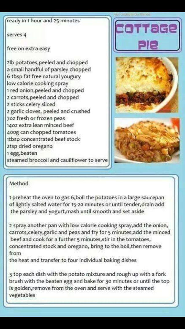 Slimming World Cottage Pie Slimming World Dinners Slimming World Cottage Pie Low Calorie Cooking